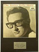 BUDDY HOLLY   - Framed LP Cover - THE BUDDY HOLLY STORY